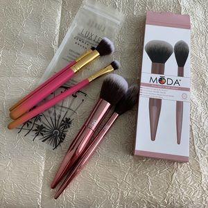 Bundle of makeup brushes (Moda/Luxie)